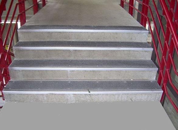 ... Grit Strip Metal Stair Treads