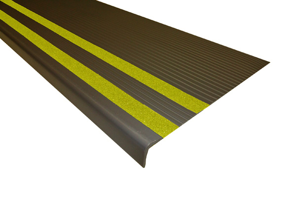 ... Heavy Duty Vinyl Stair Treads With Grit Strips