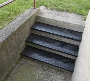 Outdoor Recycled Rubber Stair Treads Are Outside Rubber Stair Treads By American Stair Treads