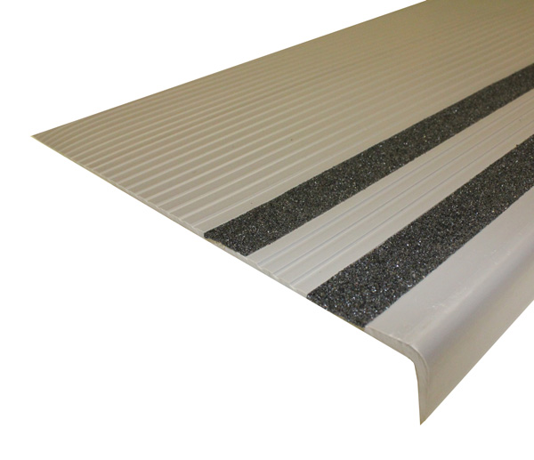 Heavy Duty Vinyl Stair Treads With Grit Strips Are