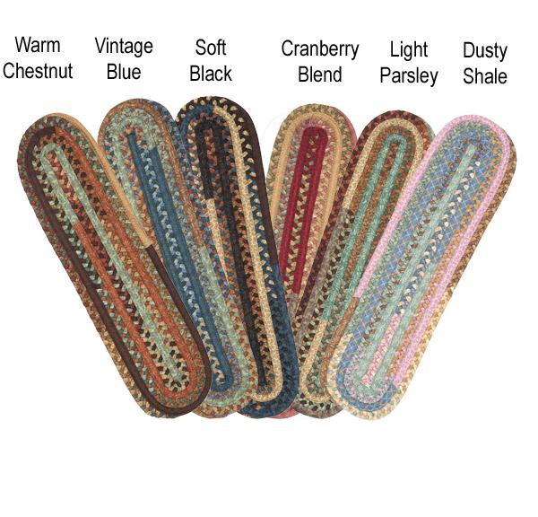 patchwork carpet stair treads